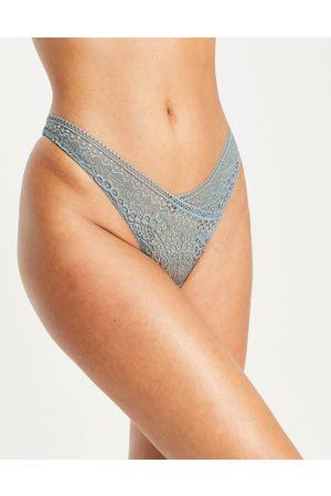 Hunkemöller Women Lingerie Thongs - Clea high leg lace string thong in