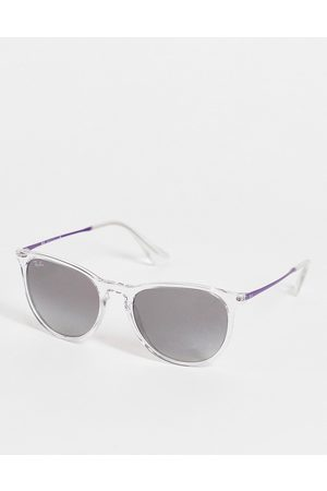 Ray-Ban Erika womens keyhole round sunglasses in clear 0RB4172