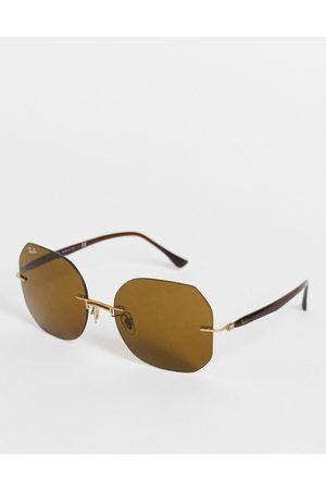 Ray-Ban Women Sunglasses - Women's oversized square sunglasses in 0RB8067