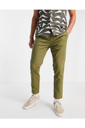 ASOS Men Chinos - Cigarette fit chinos in khaki-Green