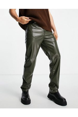 ASOS Dad jeans in leather look-Green