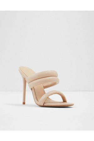 Aldo Abardolith padded double strap heeled sandals in -Neutral