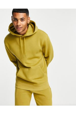 Topman Co-ord hoodie in olive-Green