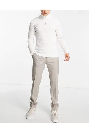 Twisted Tailor Men Formal Pants - Hemmingway skinny suit pants in -Neutral