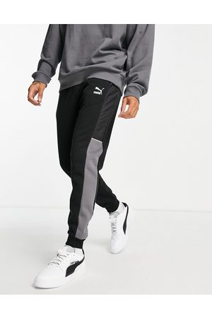 PUMA Men Joggers - CLSX trackies in black and grey