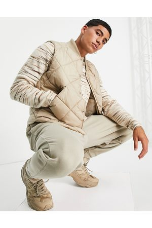 Topman Men Winter Jackets - Recycled quilted vest in -Neutral