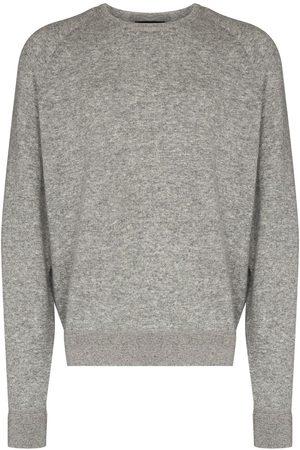 Ermenegildo Zegna Mélange-effect crew-neck sweatshirt