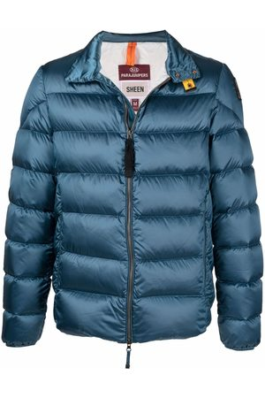 Parajumpers Men Winter Jackets - Logo-patch puffer jacket