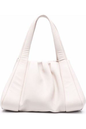 THEMOIRÈ Ruched artificial leather tote bag