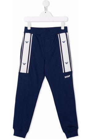 Emporio Armani Kids Stripe trim jersey trousers