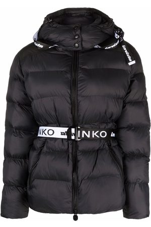 Pinko Women Winter Jackets - Logo belt padded jacket