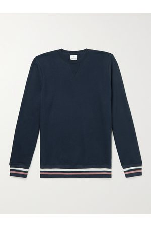 KINGSMAN Striped Cotton and Cashmere-Blend Jersey Sweatshirt