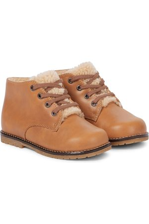 BONPOINT Boots - Baby Wood shearling-lined boots