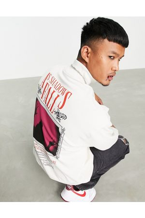 ASOS Oversized sweatshirt in white with gothic movie poster back print