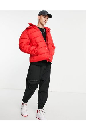 ASOS Men Winter Jackets - Recycled puffer jacket with detachable hood in