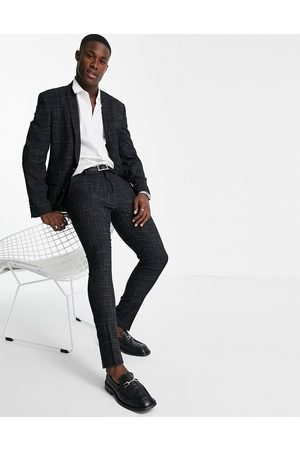 ASOS Skinny suit pants with crosshatch in