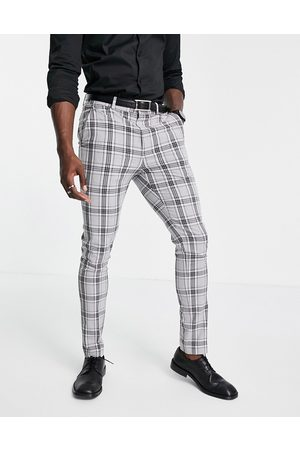 ASOS Men Formal Pants - Skinny suit pants with prince of wales check in