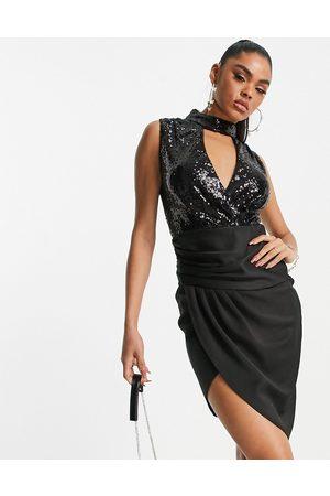 TFNC Women Midi Dresses - Cut-out sequin midi dress in