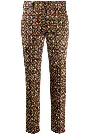 Paul Smith Women Pants - Straight leg beetle print trousers