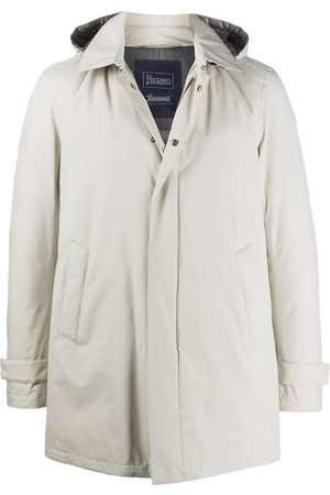 HERNO Men Winter Jackets - Padded zip-front hooded jacket