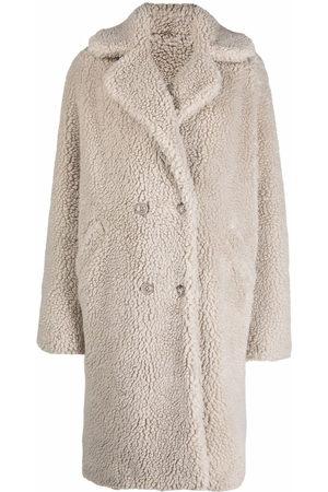 Philipp Plein Women Coats - Teddy Bear oversized cocoon coat