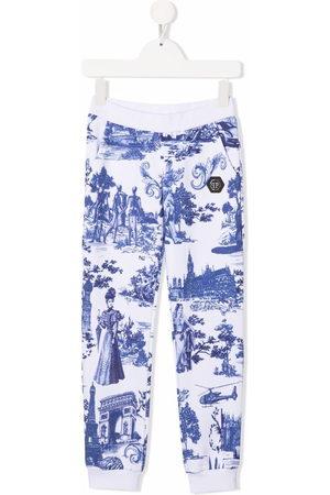 Philipp Plein Girls Joggers - En PLEIN air-print track trousers