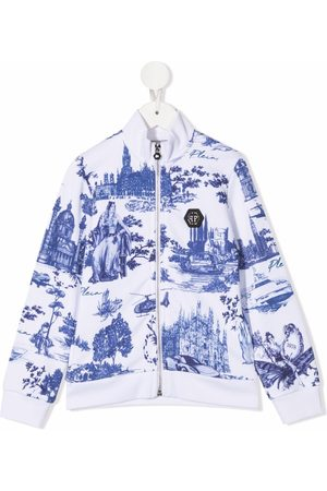 Philipp Plein Tile-print bomber jacket