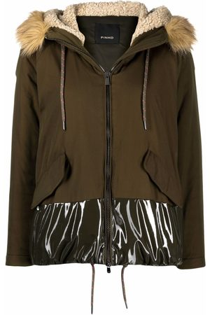 Pinko Contrast-panel parka coat