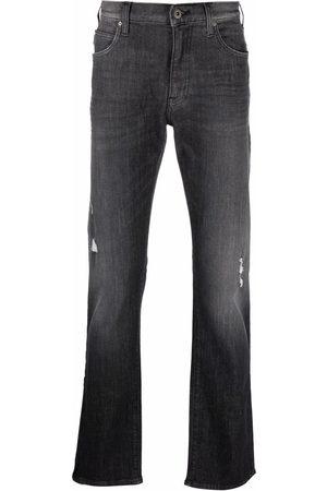 Emporio Armani Men Straight - Logo-plaque jeans