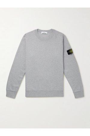 Stone Island Men Sweatshirts - Logo-Appliquéd Cotton-Jersey Sweatshirt