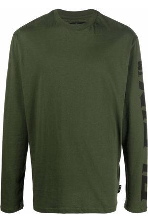 Philipp Plein Men T-shirts - Logo-print long-sleeved T-shirt