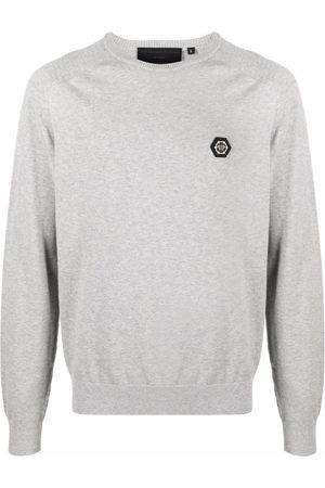 Philipp Plein Logo-patch cotton jumper