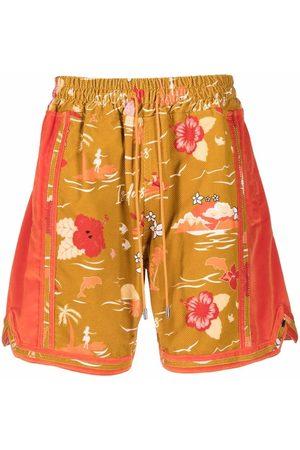 JUST DON Men Bermudas - Hawaiian-print shorts