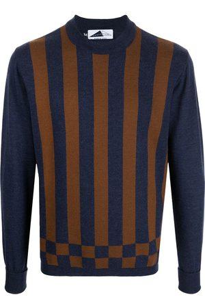 Anglozine Striped crew neck jumper