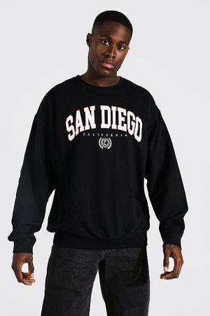 Boohoo Mens Oversized San Diego Varsity Sweatshirt