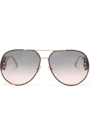 Dior Bobby Oversized Aviator Metal Sunglasses - Womens