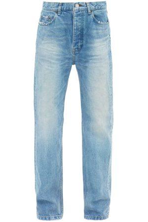 Balenciaga Women Straight - Distressed Straight-leg Jeans - Womens - Light Denim