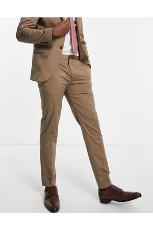 SELECTED Suit pants in slim fit tan-Brown