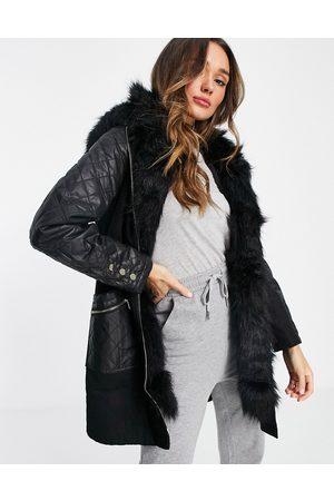 River Island Women Parkas - Faux fur lined parka jacket in