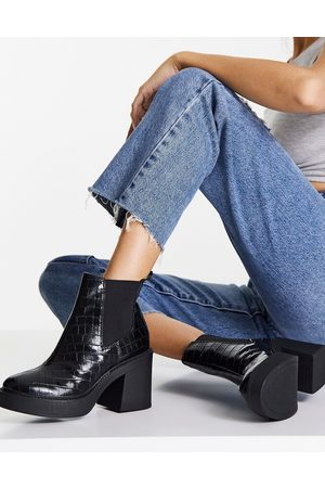 London Rebel Women Ankle Boots - Platform ankle boots in
