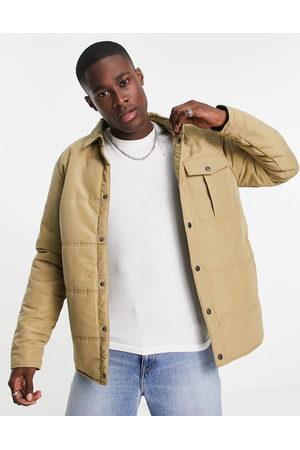 Only & Sons Men Winter Jackets - Padded worker jacket in beige-Neutral
