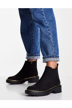 River Island Women Boots - Chunky suedette heeled boots in