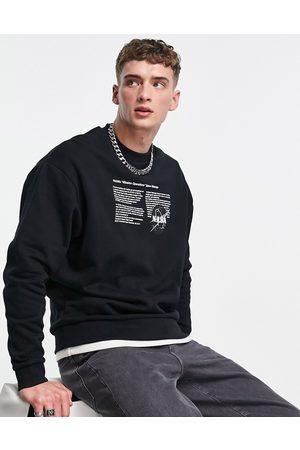 ASOS Men Sweatshirts - Oversized sweatshirt with NASA print in