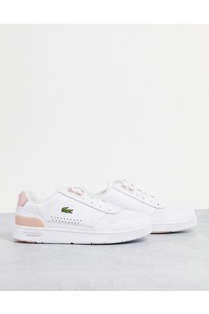 Lacoste Women Sneakers - T-clip leather sneakers in white/light pink