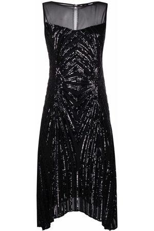 Karl Lagerfeld Sequin-embellished flared dress