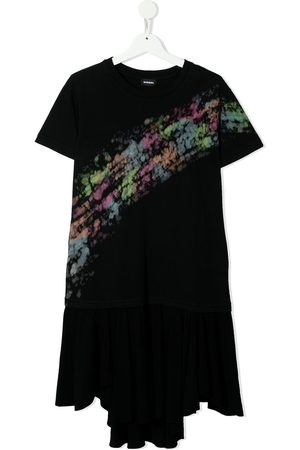 Diesel Girls Printed Dresses - Abstract-print cotton dress
