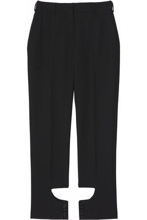Burberry Women Formal Pants - Cut-out detail tailored trousers