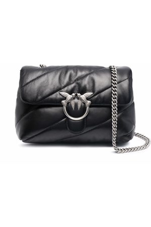 Pinko Love quilted leather shoulder bag