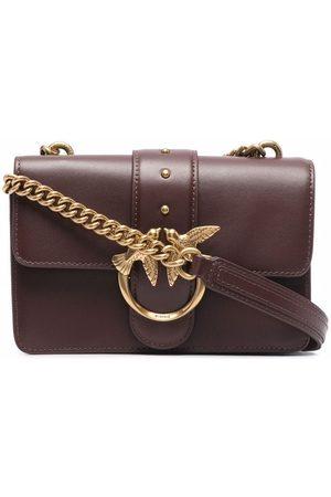 Pinko Women Shoulder Bags - Fold-over leather shoulder bag