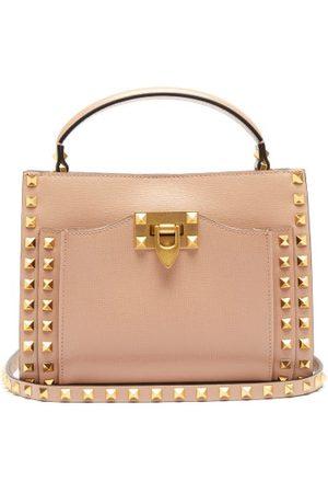 VALENTINO GARAVANI Women Shoulder Bags - Alcove Rockstud Saffiano-leather Cross-body Bag - Womens - Light